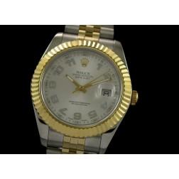 Replica Rolex Datejust II Men Watch Silver Dial Arabic Numerals 41mm Jubilee Bracelet SRDJ020