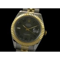 Replica Rolex Datejust II Men Watch Two Tone Case Grey Dial 41mm Jubilee Bracelet SRDJ021