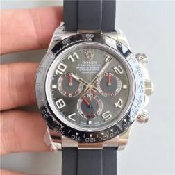 New 1:1 Mirror Replica Swiss Made Rolex Daytona M116519LN-0024 Grey Dial with Ceramic Bezel SRDT117