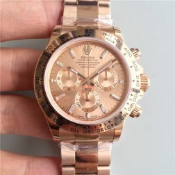 Swiss Made Replica Rolex Daytona 116505 Rose Gold Case and Dial 1:1 Mirror Quality SRDT119