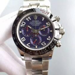 New 1:1 Mirror Replica Swiss Made Rolex Daytona M116519LN-0024 Blue Dial with Ceramic Bezel SRDT130