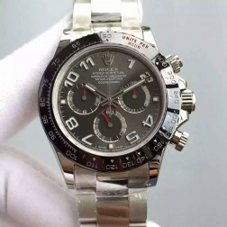 New 1:1 Mirror Replica Swiss Made Rolex Daytona M116519LN-0024 Grey Dial with Ceramic Bezel SRDT131