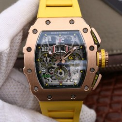 45MM Swiss Made Automatic New Richard Mille RM11-03 Best Replica Watch SRM0002