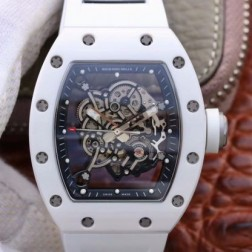 43MM Swiss Made Automatic New Richard Mille RM055 Best Replica Watch SRM0036