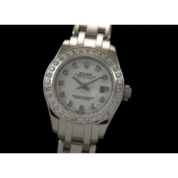 Replica Rolex Masterpiece Ladies Watch Diamonds Numerals Diamonds Bezel 24mm SRMP003