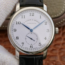 Best Swiss Made 1:1 Mirror Replica A Lange & Sohne 1815 Watch White Dial Black Leather Straps SAL002