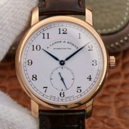 Best Swiss Made 1:1 Mirror Replica A Lange & Sohne 1815 Rose Gold Watch White Dial SAL003