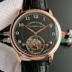 Top End Swiss 1:1 Mirror Replica A Lange & Sohne 1815 Tourbillon Rose Gold Watch Black Dial SAL006