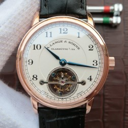 Top End Swiss 1:1 Mirror Replica A Lange & Sohne 1815 Tourbillon Rose Gold Watch White Dial SAL011