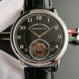 Top End Swiss 1:1 Mirror Replica A Lange & Sohne 1815 Tourbillon Watch Black Dial SAL012