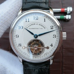 Top End Swiss 1:1 Mirror Replica A Lange & Sohne 1815 Tourbillon Watch Black Dial SAL014