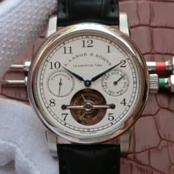 Top Swiss Made 1:1 Mirror Replica A Lange & Sohne Tourbillon Glashuttel Watch White Dial SAL015