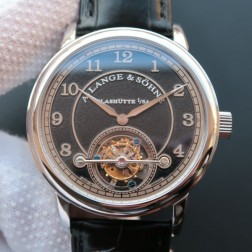 Top End Swiss 1:1 Mirror Replica A Lange & Sohne 1815 Tourbillon Watch Black Sandblasted Dial SAL018