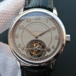 Top End Swiss 1:1 Mirror Replica A Lange & Sohne 1815 Tourbillon Watch Grey Sandblasted Dial SAL019
