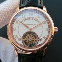 Top End Swiss 1:1 Mirror Replica A Lange & Sohne 1815 Tourbillon Rose Gold Watch White Sandblasted Dial SAL020