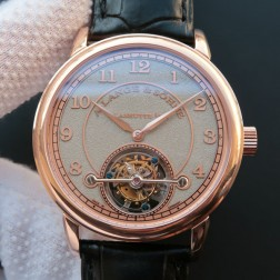Top End Swiss 1:1 Mirror Replica A Lange & Sohne 1815 Tourbillon Rose Gold Watch Grey Sandblasted Dial SAL021