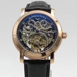 Audemars Piguet Jules Audemars Skeleton Dial Tourbillon Rose Gold Case Swiss Made 1:1 Mirror Replica SAPJ005