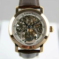 Audemars Piguet Jules Audemars Skeleton Dial Tourbillon Rose Gold Case Swiss Made 1:1 Mirror Replica SAPJ006