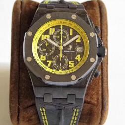 Replica Audemars Piguet Royal Oak Offshore Masato Chronograph Watch Black Rubber Strap SAPO007