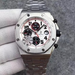 New 1:1 Mirror Replica Audemars Piguet Royal Oak Offshore White Dial Genuine Swiss Made SAPO015