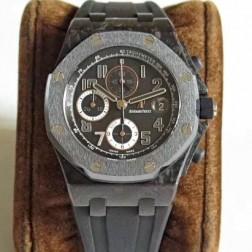 Replica Audemars Piguet Royal Oak Offshore Chronograph Watch Brown Leather Strap SAPO017