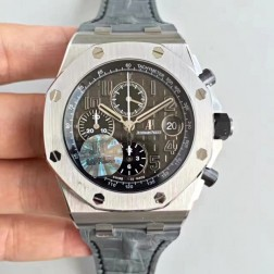 Replica Audemars Piguet Royal Oak Offshore Pride of Mexico Watch Rose Gold Case White Dial SAPO022