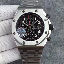 New 1:1 Mirror Replica Audemars Piguet Royal Oak Offshore Black Dial Genuine Swiss Made SAPO028