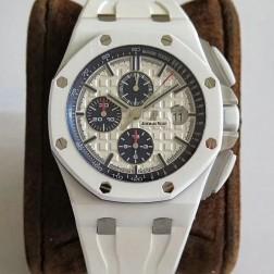 Best 1:1 Mirror Replica Audemars Piguet Royal Oak Offshore White Ceramic Case Genuine Swiss Made SAPO037