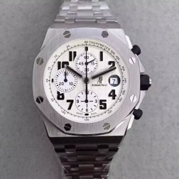 Best 1:1 Mirror Replica Audemars Piguet Royal Oak Offshore White Dial Genuine Swiss Made SAPO045