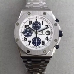 Best 1:1 Mirror Replica Audemars Piguet Royal Oak Offshore White Dial Genuine Swiss Made SAPO046