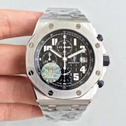 Best 1:1 Mirror Replica Audemars Piguet Royal Oak Offshore Black Dial Genuine Swiss Made SAPO047