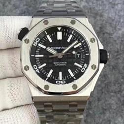 Replica Audemars Piguet Royal Oak Offshore Diver Watch 42mm Stainless Steel Bracelet SAPO055