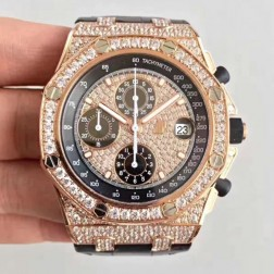 Audemars Piguet Royal Oak Offshore 18k Rose Gold with Diamonds Case and Dial Swiss Made 1:1 Mirror Replica SAPO057