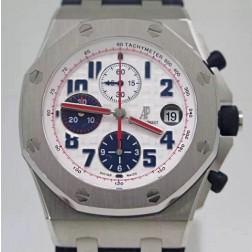 Best 1:1 Mirror Replica Swiss Audemars Piguet Royal Oak Offshore 26170 White Dial SAPO064