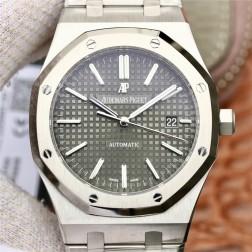 Replica Audemars Piguet Royal Oak Classic Men Watch Grey Dial Stainless Steel Case SAPR004