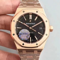 2015 New Style Replica Audemars Piguet Royal Oak Brown Dial 41mm with Genuine Swiss Movement SAPR109