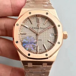 2015 New Style Replica Audemars Piguet Royal Oak White Dial 41mm with Genuine Swiss Movement SAPR110