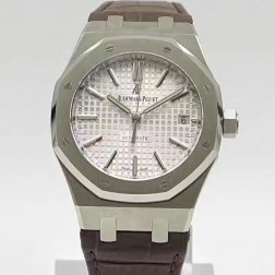 2015 New Style Replica Audemars Piguet Royal Oak 41mm White Dial with Genuine Swiss Movement SAPR111