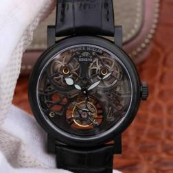 Best 1:1 Mirror Replica Franck Muller GIGA Watch Black Skeleton Dial Swiss Made SFR001