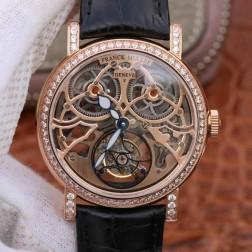 Best 1:1 Mirror Replica Franck Muller GIGA Watch Rose Gold Skeleton Dial Swiss Made SFR005