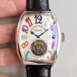 Top 1:1 Mirror Replica Franck Muller 8880 Watch White Dial with Tourbillon Swiss Made SFR008