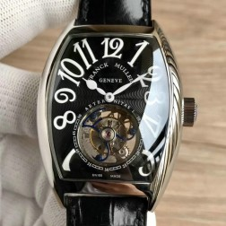 Top 1:1 Mirror Replica Franck Muller 8880 Watch Black Dial with Tourbillon Swiss Made SFR014
