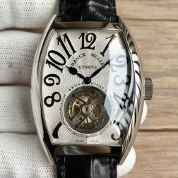 Top 1:1 Mirror Replica Franck Muller 8880 Watch White Dial with Tourbillon Swiss Made SFR015