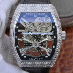 Best 1:1 Mirror Replica Franck Muller Gravity Watch Skeleton Dial Swiss Made SFR019