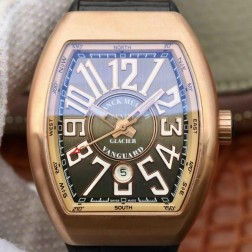Best 1:1 Mirror Replica Franck Muller Vanguard Yachting Watch 18k Rose Gold Case Swiss Made SFR023