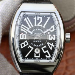 Best 1:1 Mirror Replica Franck Muller Vanguard Yachting Watch Black Dial Swiss Made SFR025