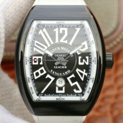 Best 1:1 Mirror Replica Franck Muller Vanguard Yachting Watch PVD Black Case Swiss Made SFR028