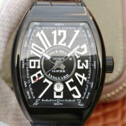 Best 1:1 Mirror Replica Franck Muller Vanguard Yachting Watch PVD Black Case Swiss Made SFR029