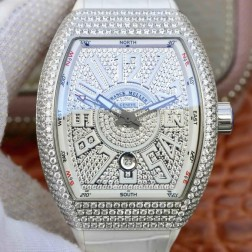 Best 1:1 Mirror Replica Franck Muller Vanguard Yachting Watch Diamonds Case Diamonds Dail Swiss Made SFR033