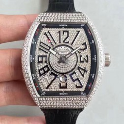 Best 1:1 Mirror Replica Franck Muller Vanguard Watch Diamonds Case Diamonds Dail SFR045